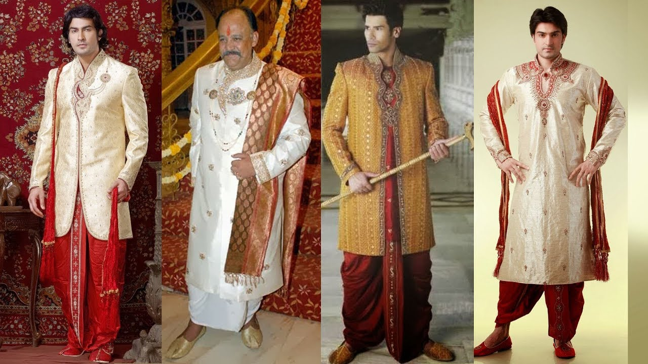 Mens Wedding Attire Indian Grooms Guide Latest Dhoti Style Indian Sherwani