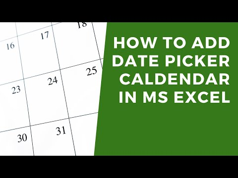 How to add DatePicker calendar to cells in MS Excel - YouTube