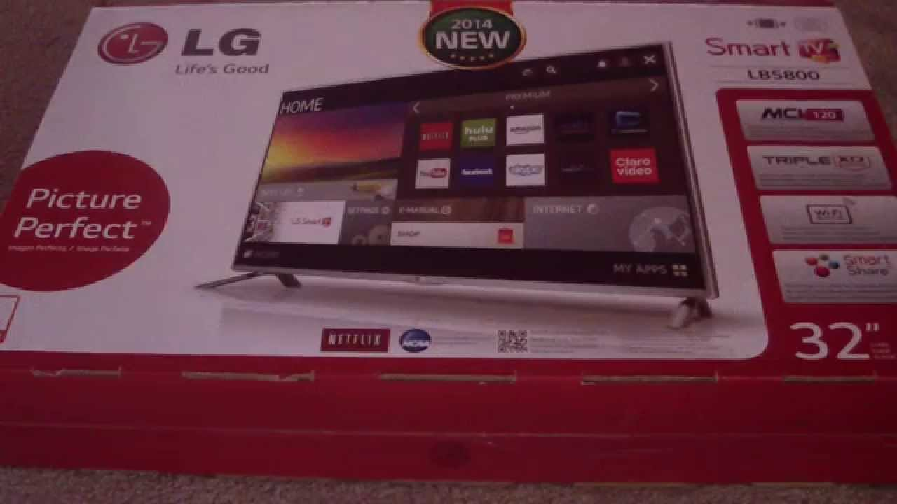 Unboxing 32lb5800 Lg 32 Inch 1080p Smart Tv Youtube