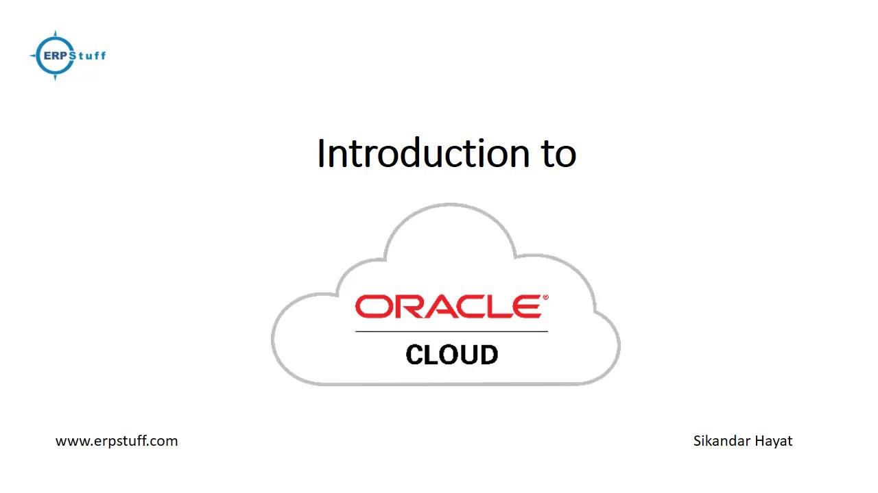 Oracle Cloud Computing Basics – SaaS