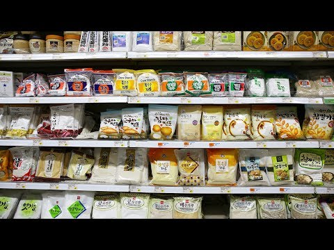 Korean Grocery Shopping: noodles, powders, grains,  beans, & seaweed