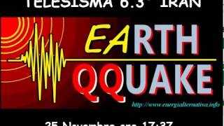 Telesisma Terremoto Iran 6 3° del 25 novembre 2018