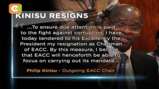 Philip Kinisu resigns from the post of EACC chair