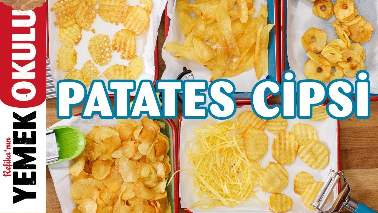 Fırında Patates Cipsi Nasıl Yapılır – Yemek Tarifleri – Potato Chips – vegan tarifleri