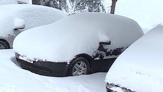 Снегопад в Аджарии отрезал регион от внешнего мира