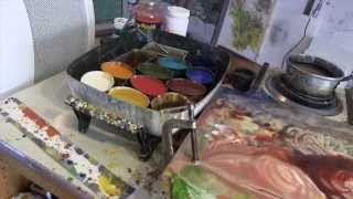 Dale Roberts Encaustic Painting Demo