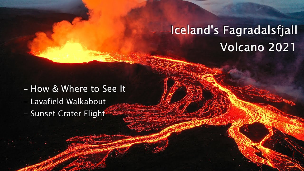 How to see the Iceland Volcano Fagradalsfjall + Amazing Sunset Flight & Lava Walkabout