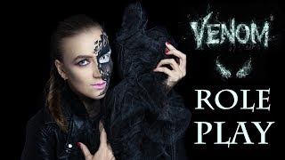 АСМР   VENOM Ролевая игра с Asmr Box   Юмор и стендап   Чистка ауры   Креативный макияж на Хэллоуин