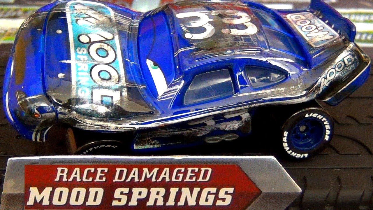 Cars Race Damaged Mood Springs Diecast Disney Racer From