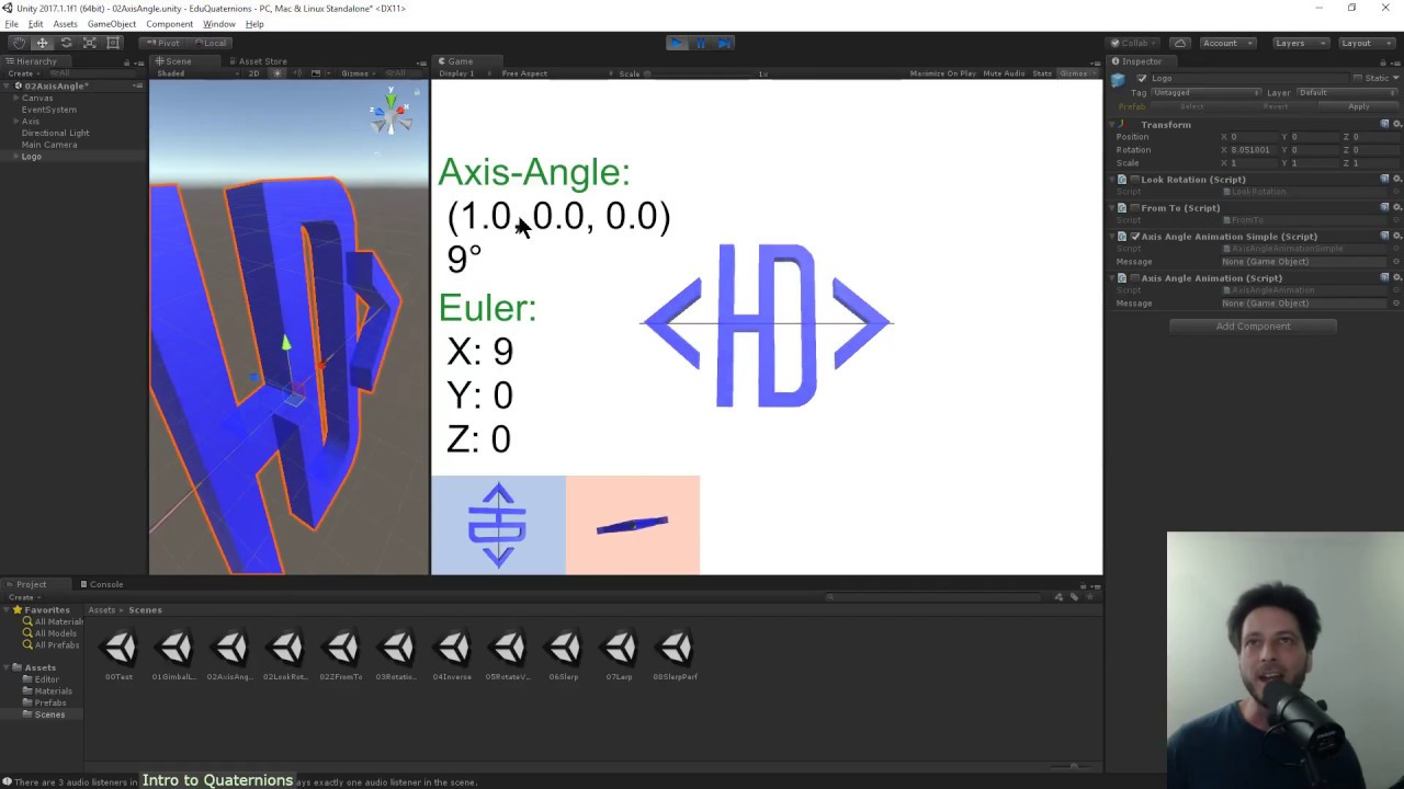 Intro to Quaternion Rotations (in Unity)