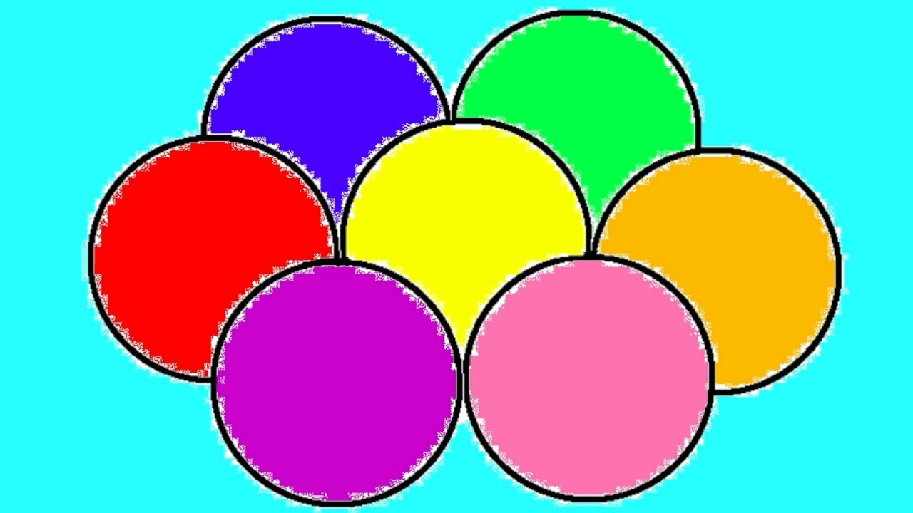 Learn Colours For Children With Balls Colouring Pages - YouTube