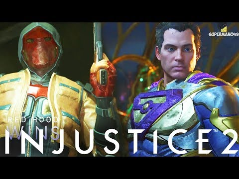 GOING FULL TRYHARD MODE AFTER GETTING DESTROYED - Injustice 2 Superman, Red Hood & Brainiac Gameplay