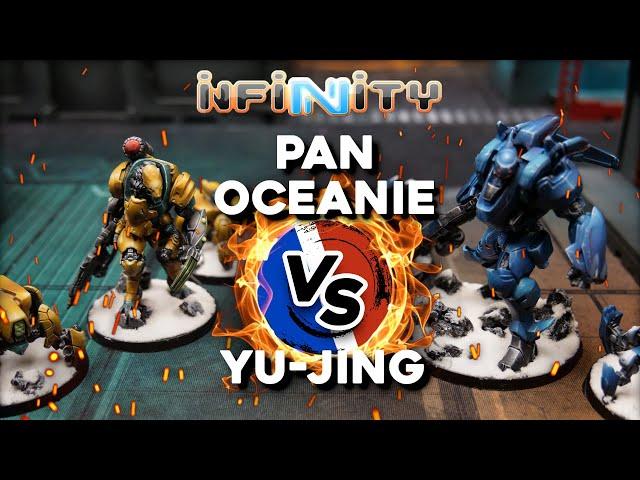 Rapport de bataille INFINITY CODE ONE - Pan océanie VS Yu-jing - (feat. @Papa Wargamer - Marduck )