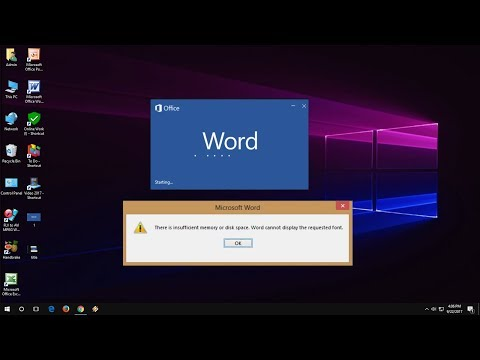 MS Word How to Fix There is Insufficient Memory or Disk Space Error (Word 2003-2016)
