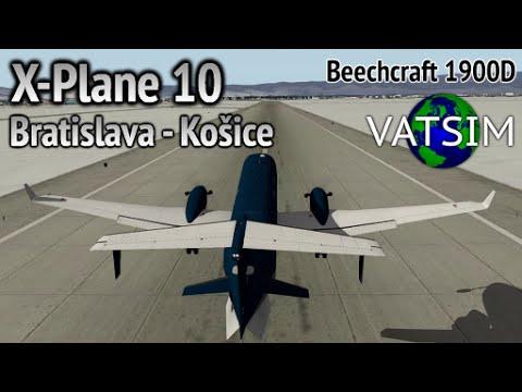 Bratislava - Košice in a Beechcraft 1900D (X-Plane 10 on VATSIM)