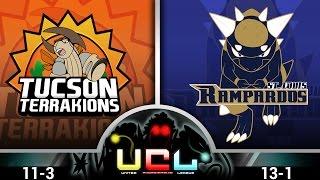 Pokémon ORAS LIVE Wi-Fi Battle [UCL S1W15] Tucson Terrakions vs St. Louis Rampardos