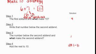 1.OA.6 / 2.OA.2 - Make 10 Strategy for Addition