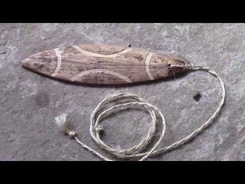 LA BRAMADERA( instrumento sonoro prehistorico)/THE bullroarer (prehistoric musical instrument)