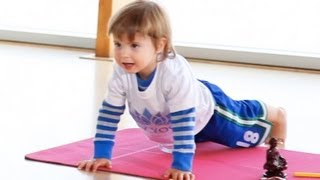2 Year Old Yoga Teacher(The world's youngest yoga teacher, 2 years old yoga Lincoln James teaches a yoga class. Please, no cell phones or shoes in this young toddler yoga teacher's ..., 2012-10-29T19:58:42.000Z)
