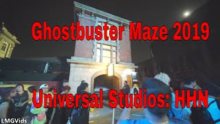 [2019] Ghostbusters Maze @ Universal Studios Hollywood: Halloween Horror Nights | New | Walkthrough