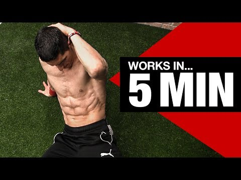RIPPED ABS Beginner Ab Workout (5 Minutes!)
