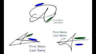 "How to draw the impressive signatures beginning with ""A""!   - 1 -"