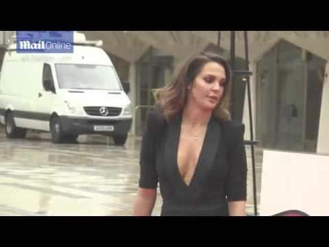 Danielle Lloyd stuns in plunging dress with thigh high split