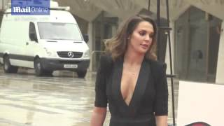 Danielle Lloyd stuns in plunging dress with thigh high split