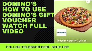 Domino's (2021) How To Use Domino's Gift Voucher And how to redeem free Gift Voucher on Flipkart. screenshot 5