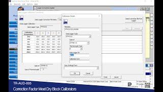 [TR-AUD-005] การแก้ไขค่าคลาดเคลื่อนเทียบอุปกรณ์สร้างอุณหภูมิ l Correction Factor DryBlock Calibrator