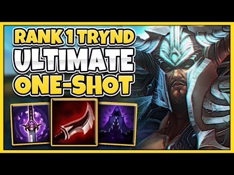 1 TRYNDAMERE WORLD ULTIMATE ONE-SHOT BUILD 100% LETHALITY - League of Legends