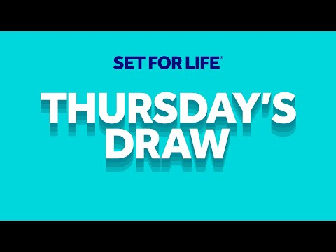 The National Lottery 'Set For Life' Draw Results From Thursday 24th September 2020