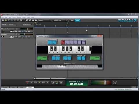 Mixcraft 7 Virtual Instruments and MIDI: Using Mixcraft's Musical Typing Keyboard
