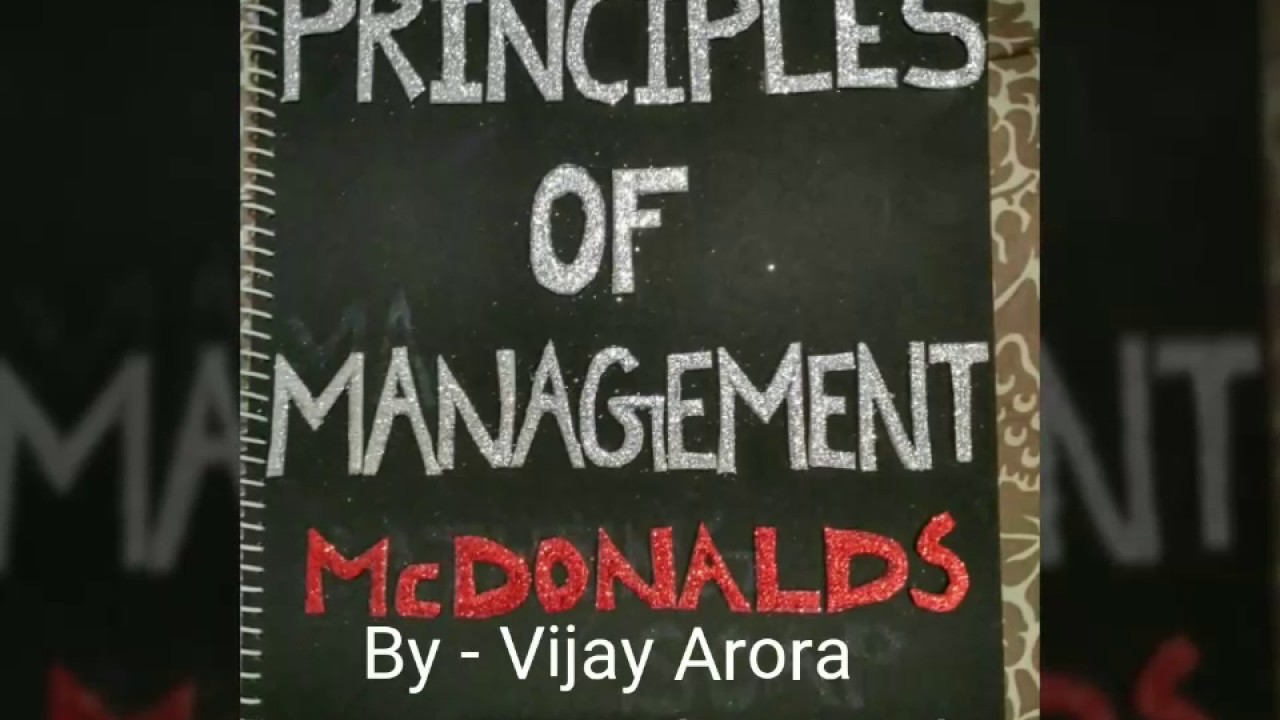 fayol principles of management applied in mcdonalds