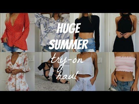 HUGE SUMMER TRY ON HAUL FT. LULUS, URBAN OUTFITTERS, & ZARA
