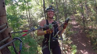 Highest Zip-line Ariel ropes course in Ontario Treetop Trekking Ganaraska Forest