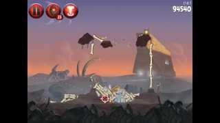 Angry Birds Star Wars 2! Бегство на Татуин! Свинская сторона! Уровени 13 14 15! Серия 24! Энгри берд
