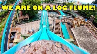We Are On A Log Flume at Toshimaen in Tokyo Japan! としまえん - ミニフリュームライド - 東京