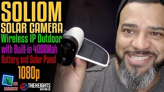 #Soliom Wireless IP Outdoor Solar Camera 📹 : #LGTV Review