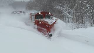 【JR北海道】排雪ぶっかけ!宗谷ラッセル 抜海カーブ通過