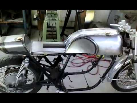 custom cafe racer seat and tank. - youtube