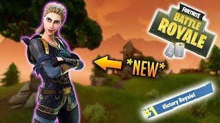 *NEW* Highland Warrior Skin Gameplay In Fortnite: Battle Royale (Road To 100 VR's) #11 (67/100)
