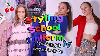 School Uniform Makeover Challenge - Styling Back To School Uniform And Making It Cute!