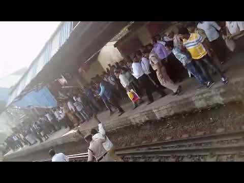 Jai bheem strike on Ambernath railway tracks