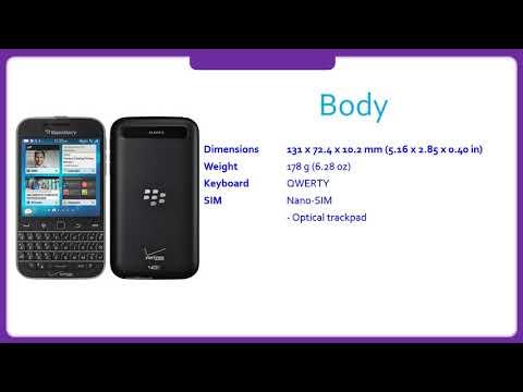 BlackBerry Classic Non Camera Specification