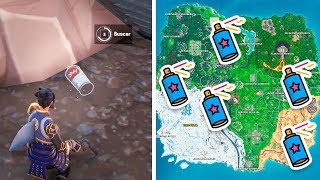 Find the lost spray canishs - FORTNITE's DISPARAY AND PINTA CHALLENGES