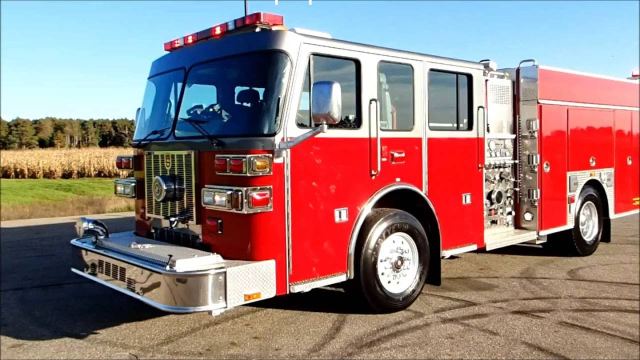 Sutphen pumper tanker fire truck for sale by carco youtube sciox Gallery