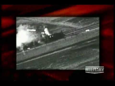 American warplanes strafing enemy trains during World War Two.avi