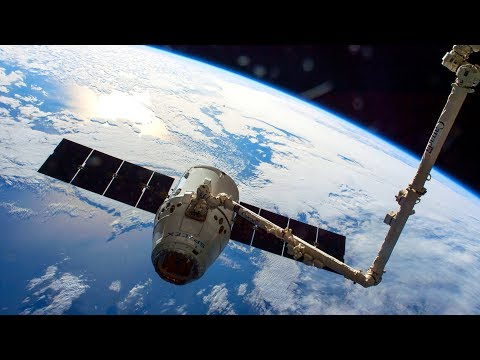 Space-X Dragon CRS-12 Rendezvous Grappling And Installation At ISS - Live Mirror