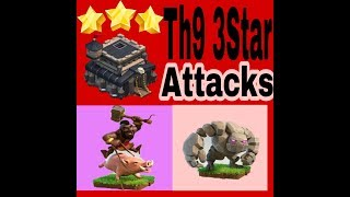 ||TH9|| 3 Star Attacks |Clash of clans| #1